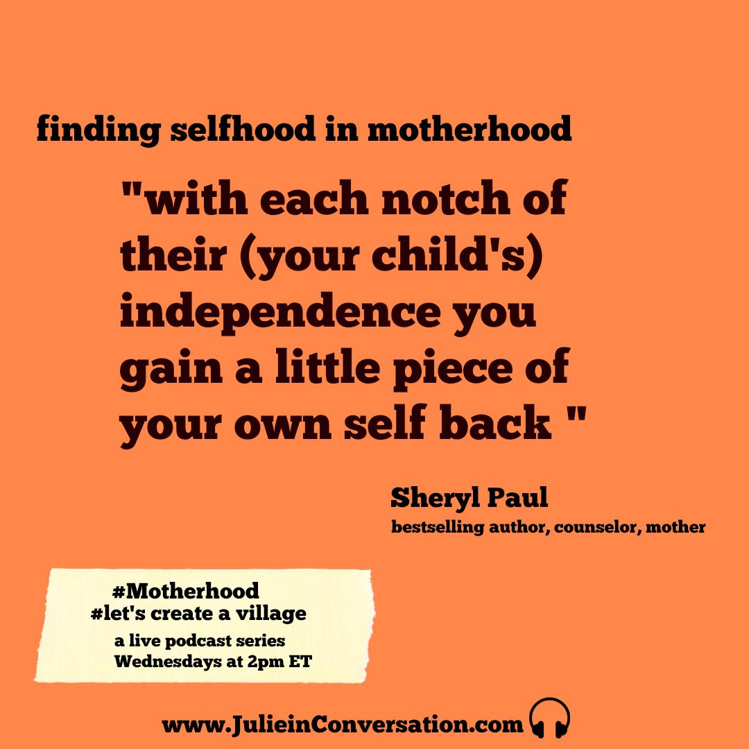 selfhood in motherhood