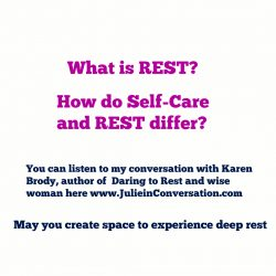 Self-Care and Rest